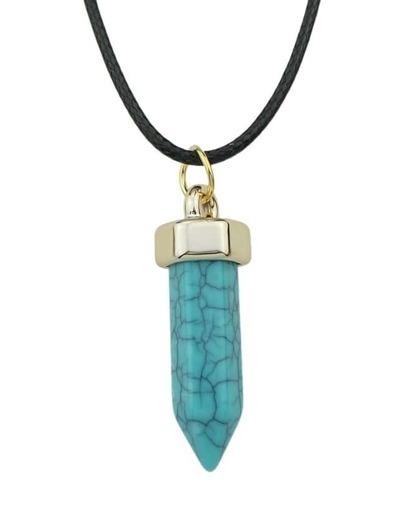 Blue Resin Pen Pendant Necklace