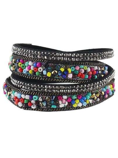 Colorful Beads Multilayers Women Wrap Bracelet Jewelry