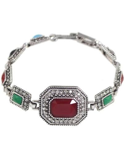 Atsilver Rhinestone Custom Bracelet
