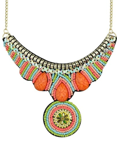 Colorful Chunky Multi Bead Necklace