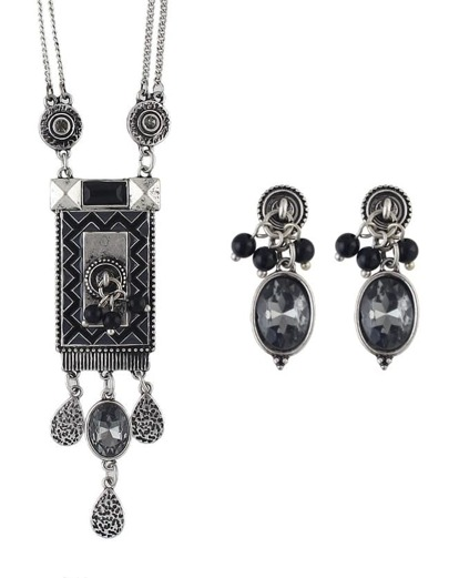 Atsilver Long Pendant Jewelry Set