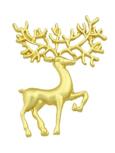 Broche en forme de cerf -doré