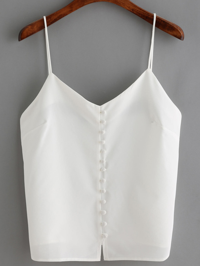Split Buttons Cami Top