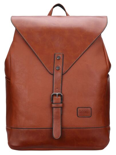 Brown Buckle Magnetic Oversized Backpacks