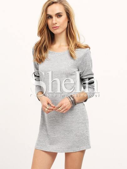 Grey Color Block Loose Dress