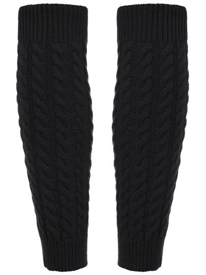 Black Leg Warmers Knitting Crochet Socks