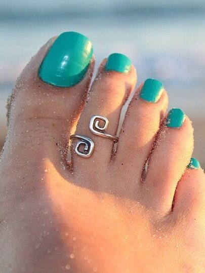 Silver Eight Shape Foot Ring