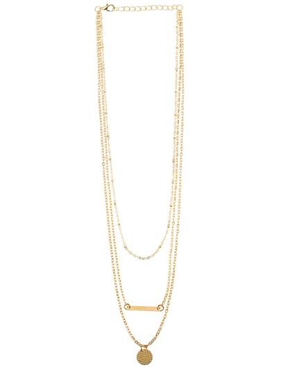 Collier avec pendentif forme géométrique -doré
