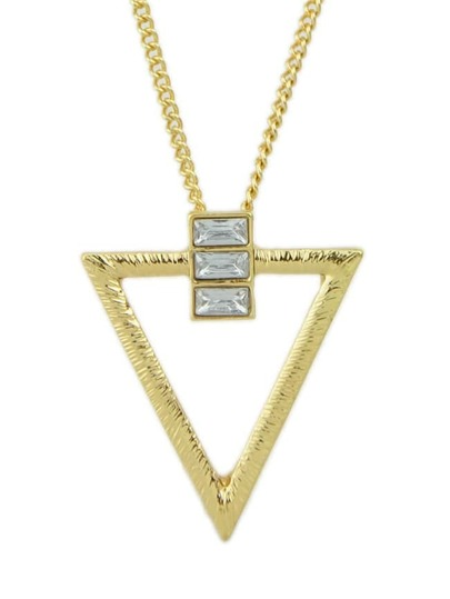 Gold Plated Triangle Pendant Necklace