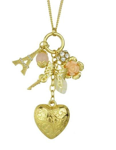 Gold Plated Heart Pendant Necklace
