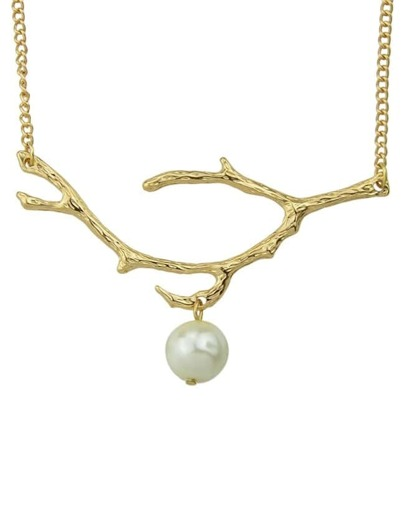 Gold Plated Pearl Pendant Necklace