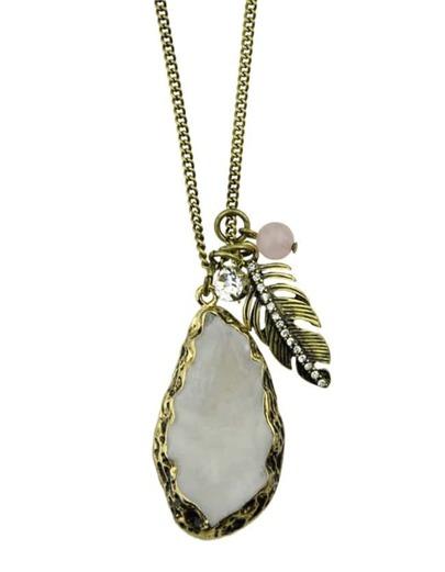 Rhinestone Long Pendant Necklace