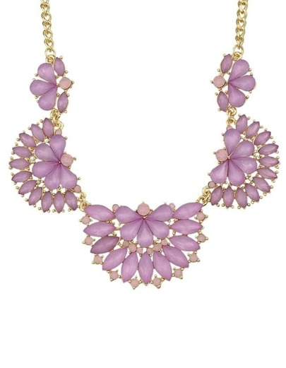 Purple Gemstone Collar Necklace