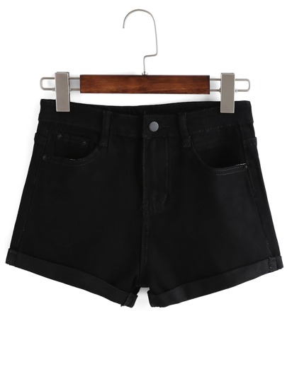 Shorts denim -negro
