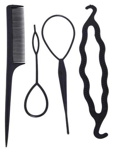 Black Comb Pull Hair Pins U-Shaped Clip Hairpin Hook Set