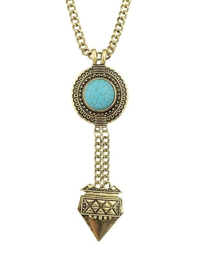 Atgold Hanging Turquoise Necklace
