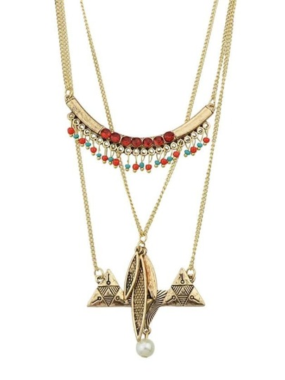 Multilayers Long Pendant Necklace