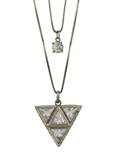 Double Layers Triangle Necklace