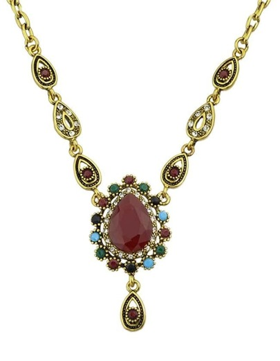 Gemstone Pendant Women Necklace