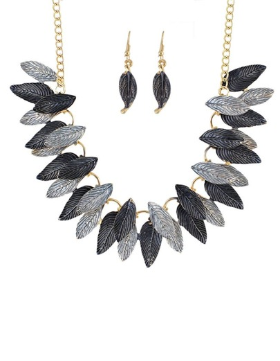 Gray Gold Plated leaves Sets