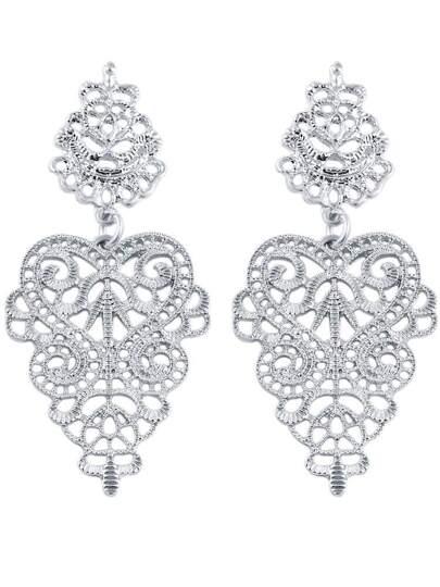 Orecchini traforato a Fiore d'argento