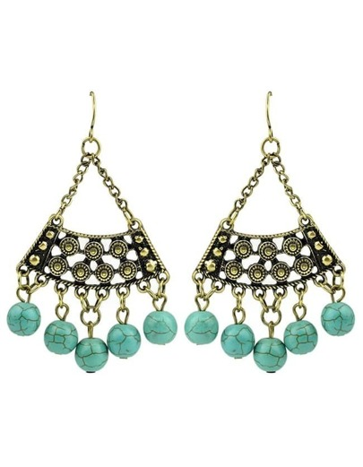 Turquoise Big Chandelier Earrings