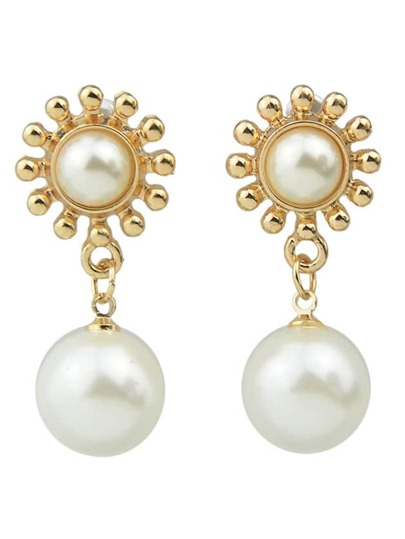 Imitation Hanging Pearl Earrings