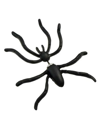 Black Spider Shape Stud Earrings