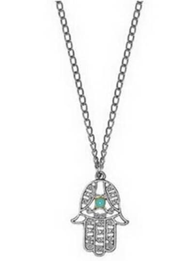 collier avec pendentif -argenté
