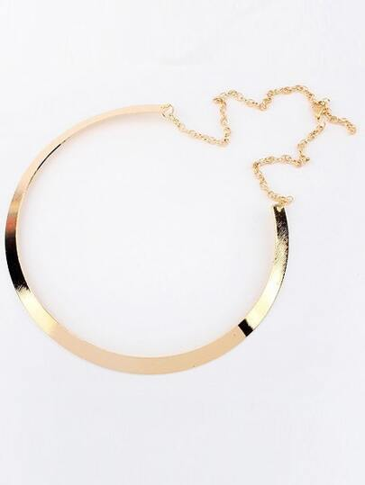 Gold Metallic Circle Necklace