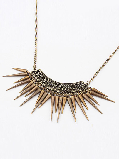 Retro Rivet Necklace