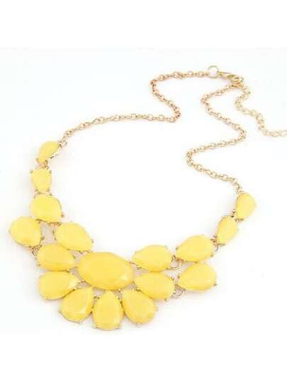 Yellow Drop Gemstone Necklace
