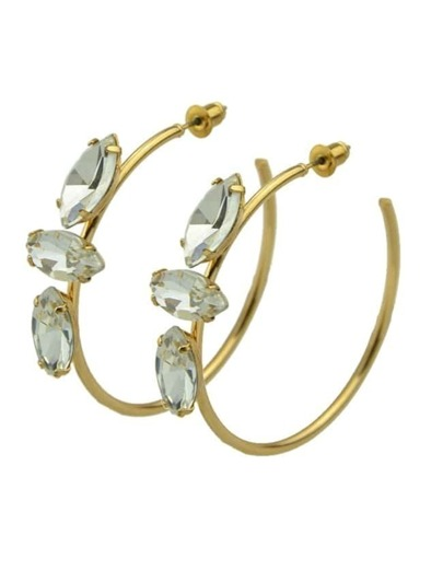 Rhinestone Simple Hoop Earrings