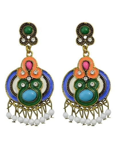 Colorful Enamel Drop Earrings