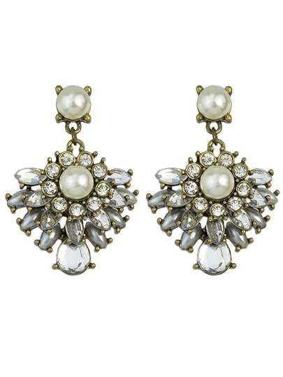 Silver Plated Pearl Drop Earrings