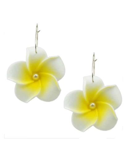 Boucles d'oreilles à fleur -jaune