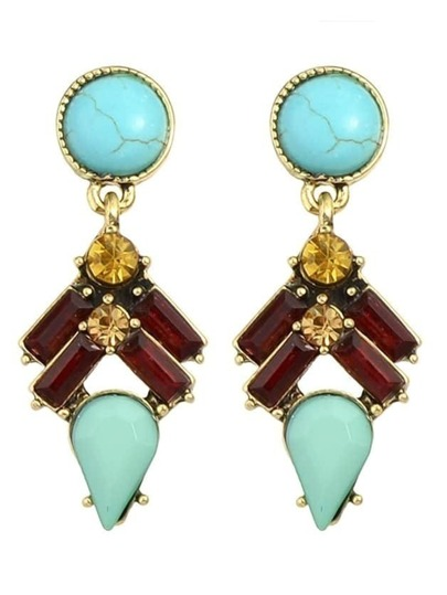 Colorful Gemstone Women Earrings