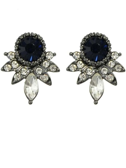 Black Rhinestone Small Stud Earrings
