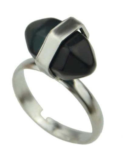 Anillos piedra preciosa -negro