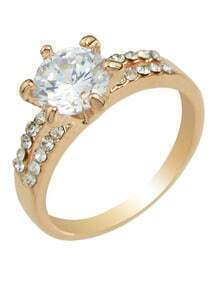 Rose Plated Rhinestone Rings