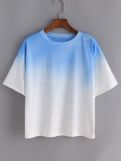 Ombre Loose Blue T-shirt
