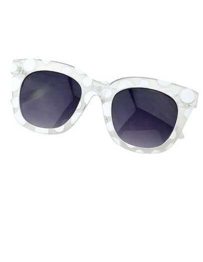 Gafas de sol cuadrada -blanco