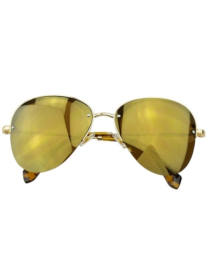 Gold Pilot Women Sunglasses