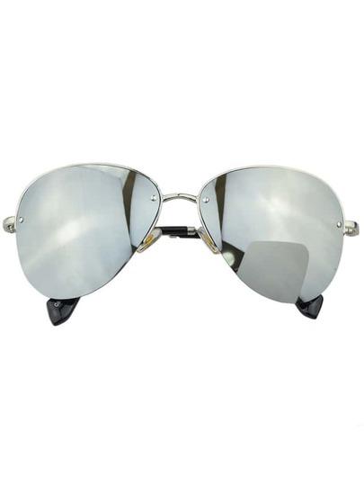 Silver Pilot Women Sunglasses