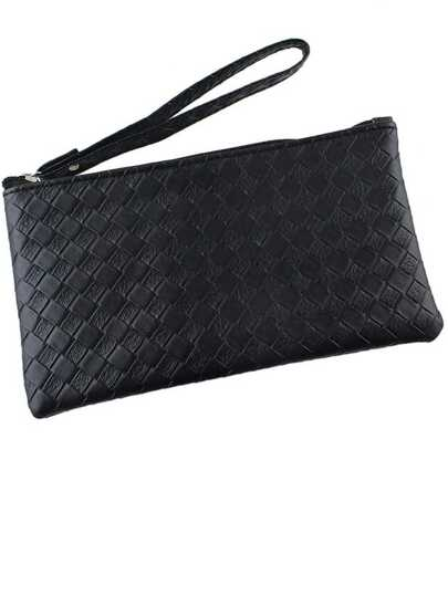 Black Pu Leather Clutch
