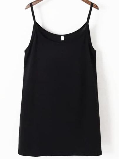 Spaghetti Strap Black Cami Dress