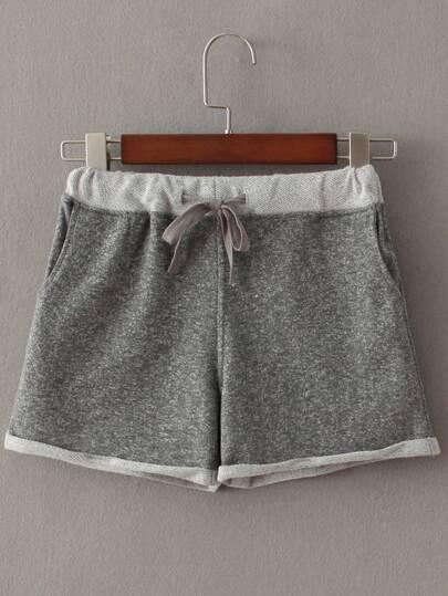 Shorts mit Tasche und Tunnelzug - grau