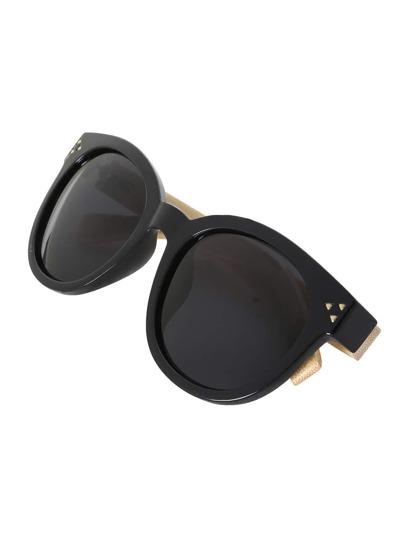 Stud Black Frame Sunglasses