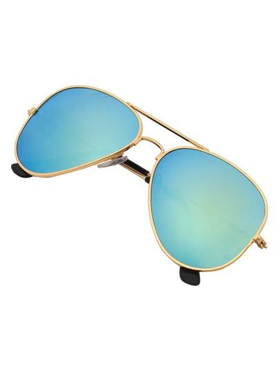 Gafas de sol lentes verdes barra superior