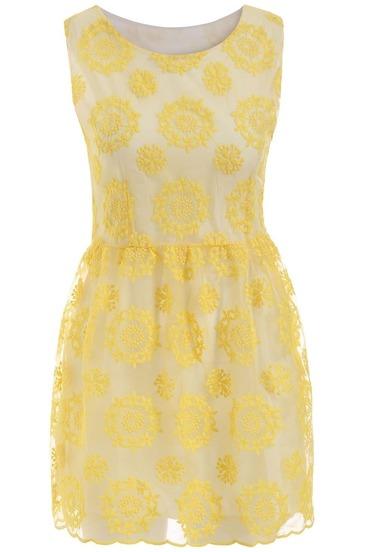 Embroidered Organza Sun Dress
